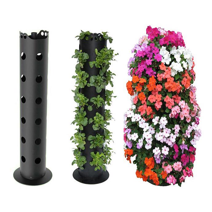 Подставки под цветы из пластиковых труб