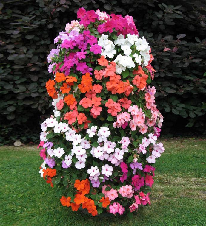 Flower Tower Vertical Planter Ideas For Home Garden