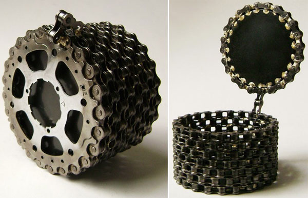 creative ideas with recycled bicycle chain ideas for home garden