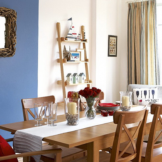 Dining room in seaside style ideas ideas for home for Breakfast room ideas