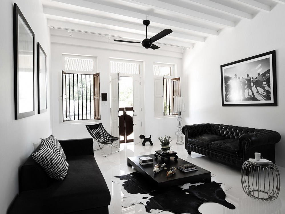 Black And White Interior Ideas For Shophouse Ideas For Home Garden