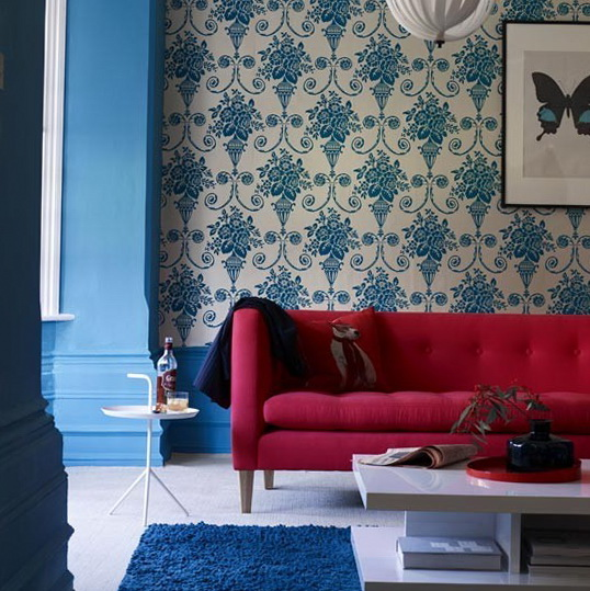 Bedroom Blue Feature Wall Bedroom Decorating Ideas With Lights Modern 3 Bedroom Apartment Bedroom Paint Ideas Green: Colour Schemes For Living Room