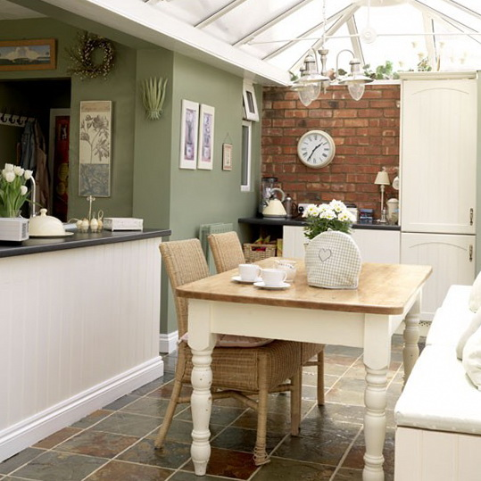Conservatory dining ideas ideas for home garden bedroom for Country kitchen dining room ideas