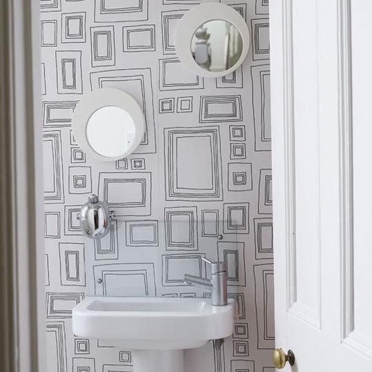 Unusual bathroom wallpaper home design