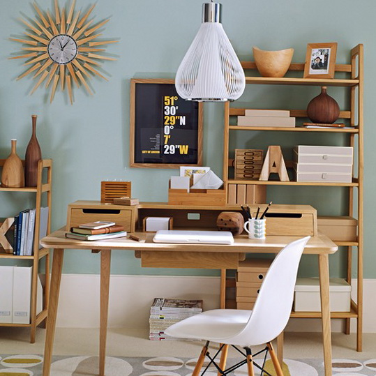 Mid century ideas for modern home office ideas for home Modern home office ideas