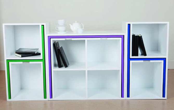 Smart Storage Idea Table And Chairs Fit On The Shelf