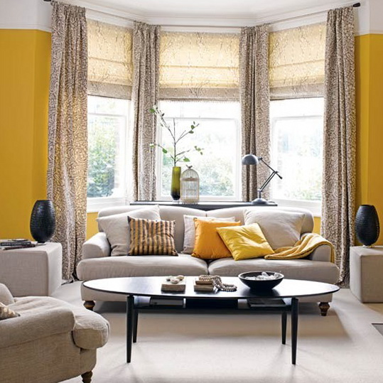 The Best Window Blinds For Living Room Decorate Zesty Yellow Living Room With Bay Window This Room Is All About