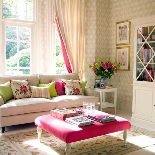 Traditional living room ideas interior design ideas for Fuschia bedroom ideas