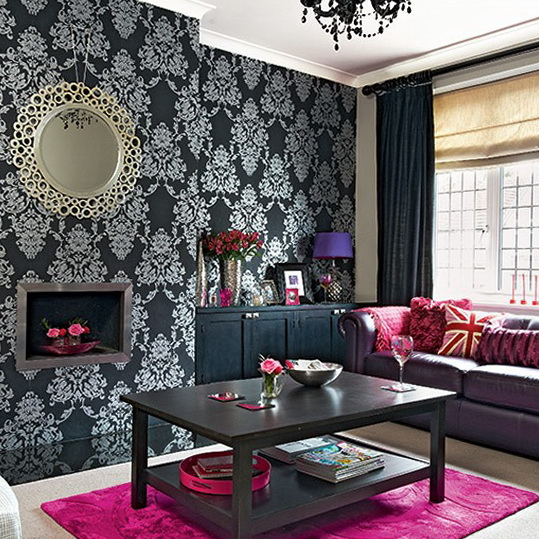 1 Dramatic Living Rooms Colour Schemes