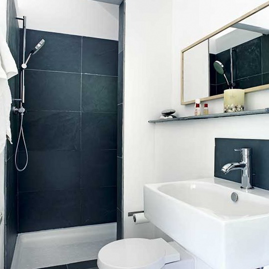 10 small bathroom design ideas small black white shower room