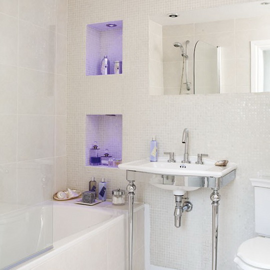 Vanity Lighting Small Bathroom : Small Ideas for Small Bathrooms Ideas for Home Garden Bedroom Kitchen - HomeIdeasMag.com
