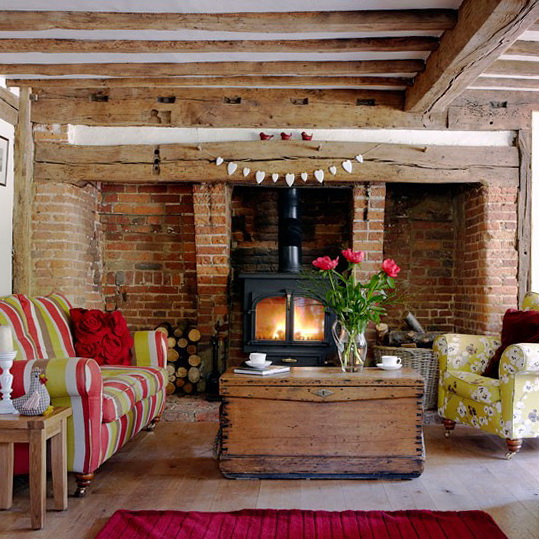 Warm Rustic Living Room Ideas: Country Living Rooms – Decorating Ideas