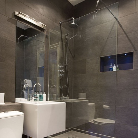 Shower rooms bathroom ideas ideas for home garden for Bathroom ideas grey tiles