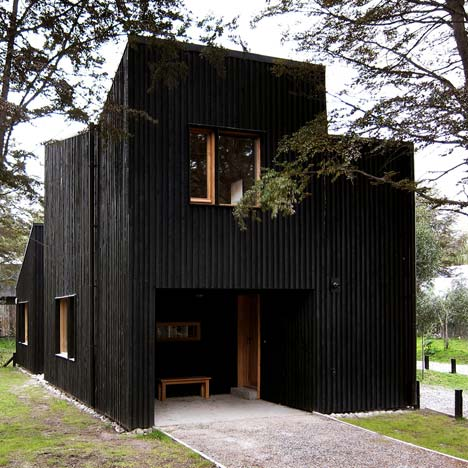 Clf houses by estudio babo ideas for home garden bedroom - Exterior wood paint black ...