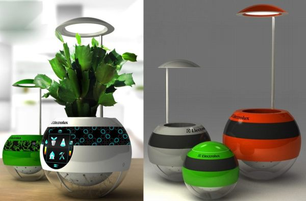 Moots hydroponic garden tells you if plants need more water