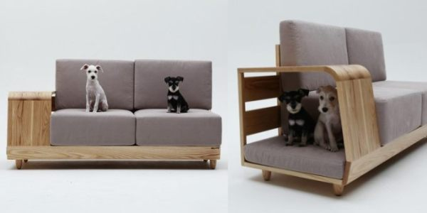 A sofa with integrated doghouse ideas for home garden Dog house sofa