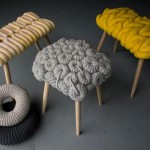 Unique knitted stools collection