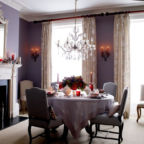 Christmas dining rooms ideas for home garden bedroom for Decoration table salle a manger