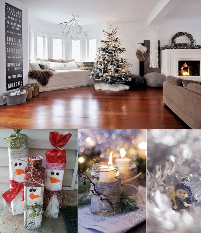 Living room christmas decorations ideas for home garden for Christmas ideas for living room