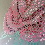Cross stitch on the wall