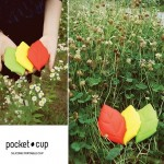 Leaf, from which you can drink. Leaf styled pocket cup, pocket cup