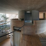 Pit House - underground and above-ground house from Japanese architects