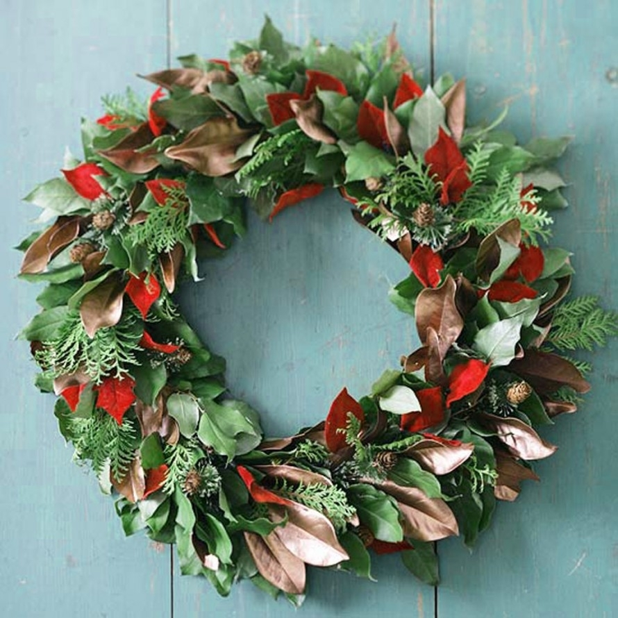 Christmas wreath on the door with his own hands ideas for How to make christmas door wreaths