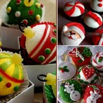 Overview creatively decorated with Christmas dishes