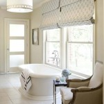 Bright bathroom interior