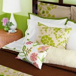 Bedroom in spring colors