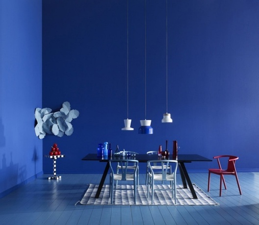 The Blue Color In The Interior Ideas For Home Garden
