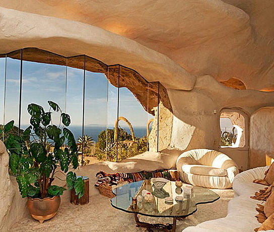 when a house interiors have - Flintstone House