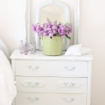 White chest of drawers in the interior