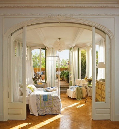 Ideas For Home Garden Bedroom Kitchen: Romantic Bedroom With A Beautiful Terrace
