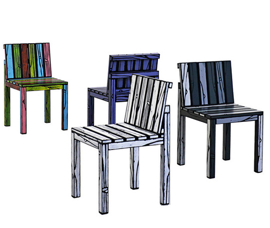 Colorful Kitchen Chairs: Cartoon Chairs Series Logo Chairs