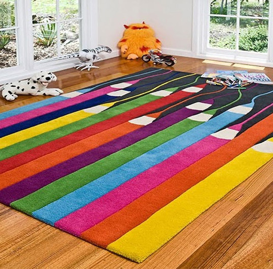 Unusual rug ideas for home garden bedroom kitchen - Amazing style rugs for kids rooms ...