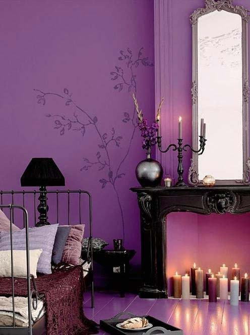 Shades Of Purple In The Interior Ideas For Home Garden