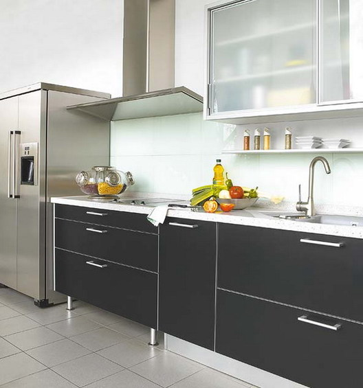Ideas For Home Garden Bedroom Kitchen: Black Kitchen Or How To Avoid Mistakes
