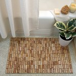 Bath mat from wine corks