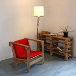 Wooden pallets as furniture