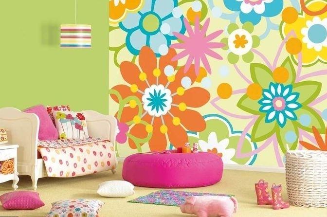 Brighter does not happen ideas for home garden bedroom for Bright bedroom wallpaper