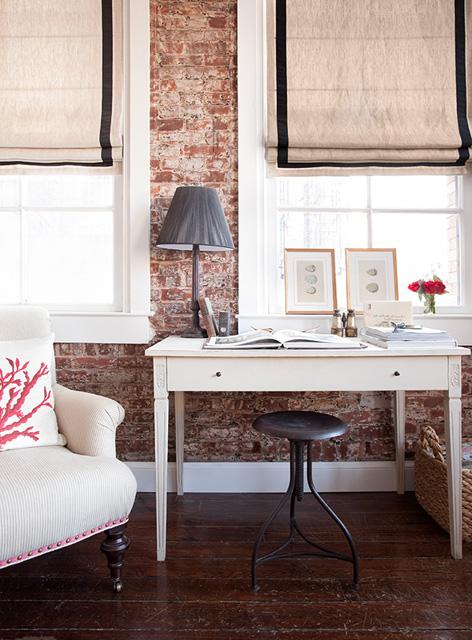 Ziegelwand wohnzimmer inspiration f r die - Gestaltung wohnzimmer ...