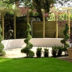 Beautiful landscape design of gardens