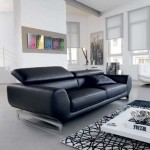 The combination of black and white in the interior