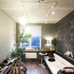 A one-room apartment in a new building with loft elements and self-made things