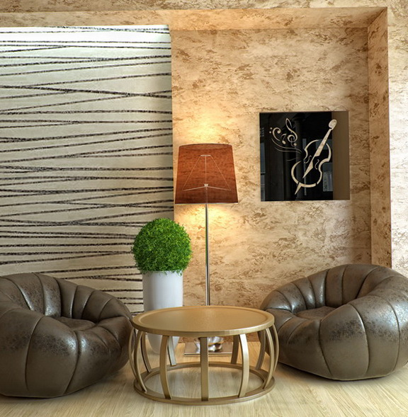 Beautiful Decorative Mirrors In The Living Room
