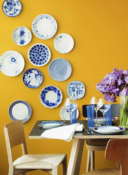 Wall Plates Home Decor : Decorated with a beautiful wall plate ideas for home