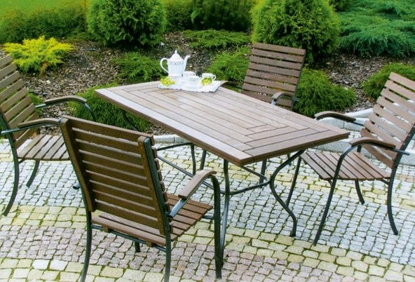 Iron And Wood Patio Furniture perfect metal and wood outdoor furniture 17 best intended decor