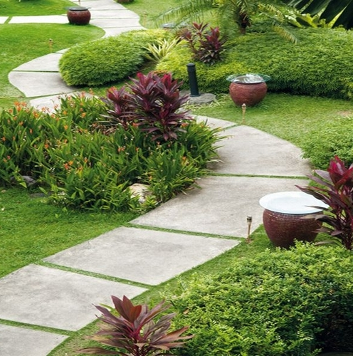 Beautiful garden paths ideas for home garden bedroom for Cement garden paths