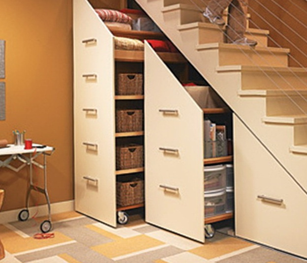 Simple ideas of how to save the living space ideas for for Under the stairs cabinet